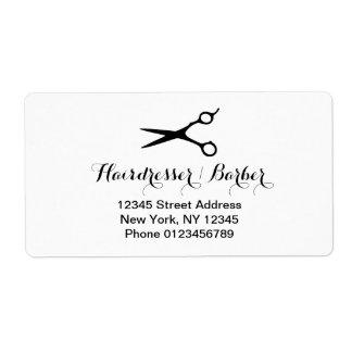 Custom hairdresser address labels for hair stylist
