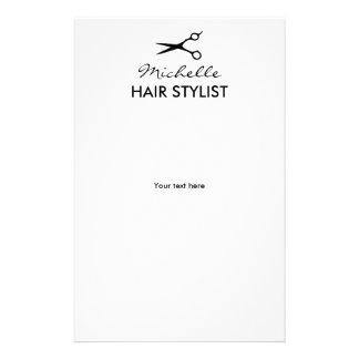 Custom hairdresser flyers for hairstylist or salon