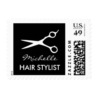 Custom hairdresser stamp for hair stylist salon