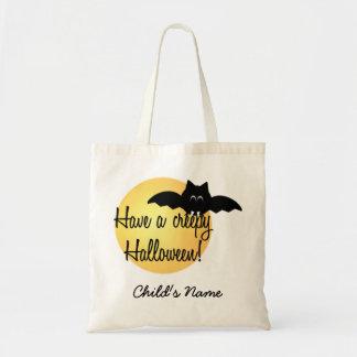 Custom Halloween Bat Trick or Treat bag! Budget Tote Bag