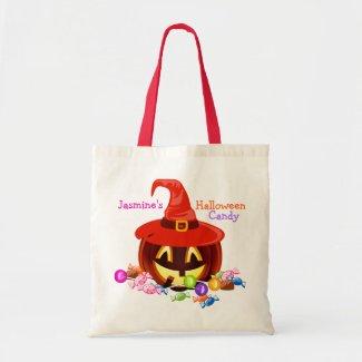 Custom Halloween Candy Tote Bag