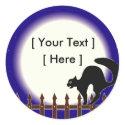 Custom Halloween Cat Stickers sticker