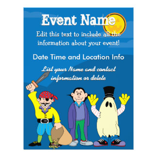 Custom Halloween Costumes Flyer