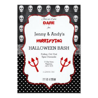 Custom Halloween Fearsome Vintage Invite