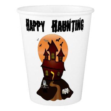 Beach Themed Custom Halloween Haunted House Cups