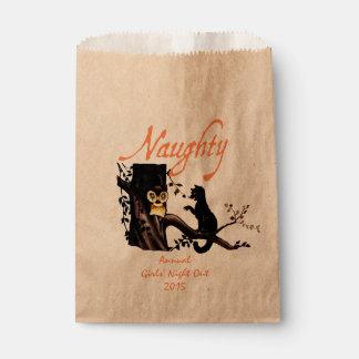 Custom Halloween Naughty or Nice Gift Favor Bag