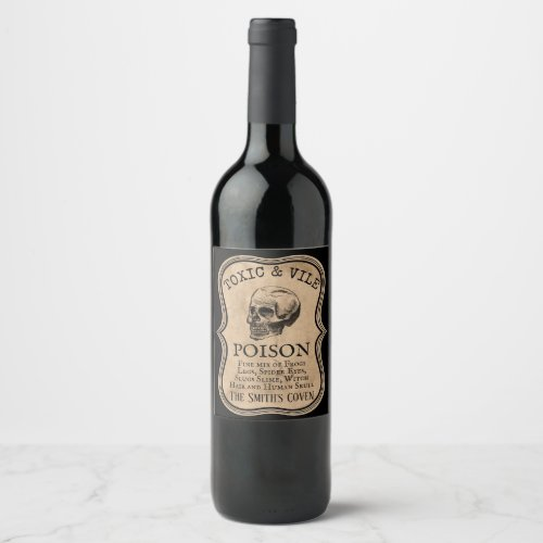 custom halloween party Apothecary potion bottle Wine Label
