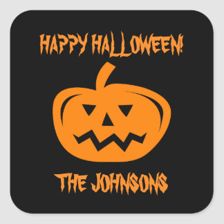 Custom Halloween party favor stickers and seals