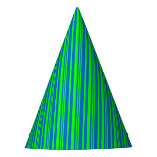 Custom Halloween Party Hat Blue Green Stripes
