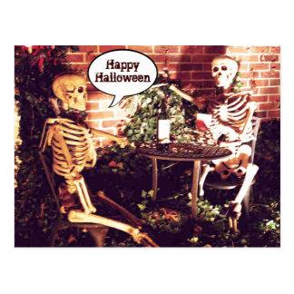 Custom Halloween Skeletons Partying  Card