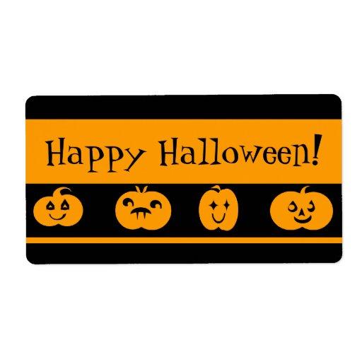 Custom Halloween Treat Bag Labels