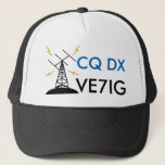 """Custom Ham Radio Callsign Hat for Amateur Radio<br><div class=""""desc"""">Need something to wear at the next hamfest? This hat is perfect for ham radio operators. Click the &quot;Customize it&quot; button to get started. It can be personalized (personalised) with your call sign (or that of a friend). It would make a great gift for a family member who is an...</div>"""