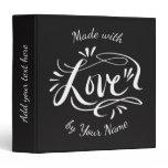 Custom hand lettered kitchen recipe binder book