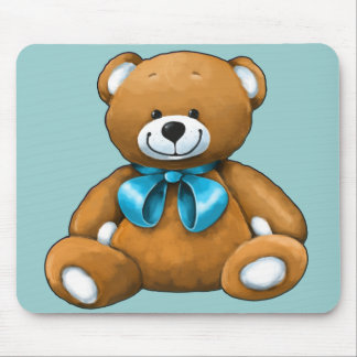 Custom hand painted teddy bear gift mouse pad