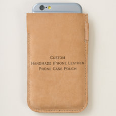 Custom Handmade iPhone Leather Phone Case Pouch