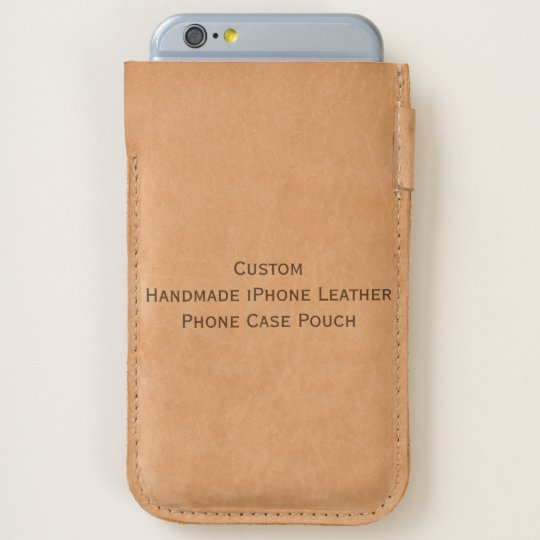 Custom handmade iphone leather phone case pouch zazzle for How to customize your iphone case