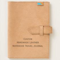 Custom Handmade Leather Notebook Travel Journal