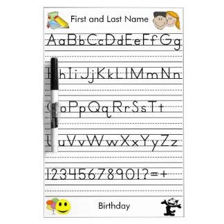 Custom Handwriting Board - Kindergarten Level