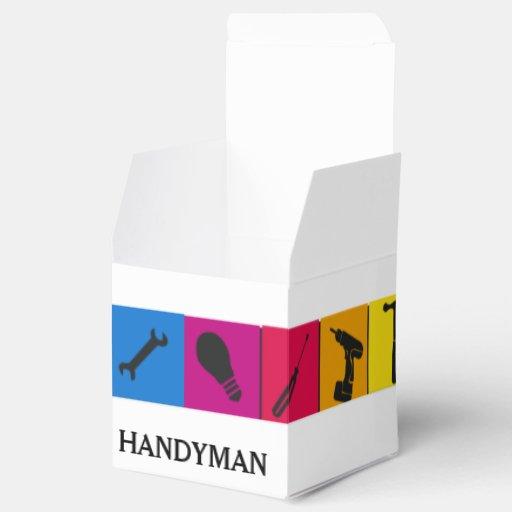 Custom handyman colored repair carpenter tools favor box for Quality craft tool box