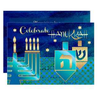 Custom Hanukkah Celebration Party Invitations at Zazzle