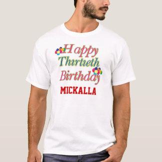 Custom Happy 30th Birthday Tee Shirt