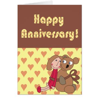Custom Happy Anniversary Card, Cute Love Card