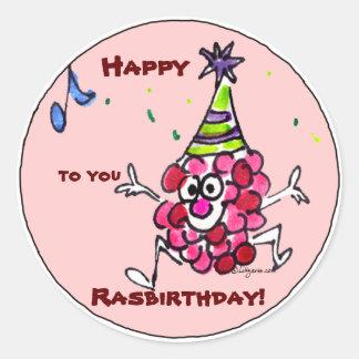 Custom Happy Birthday Cartoon Labels Stickers