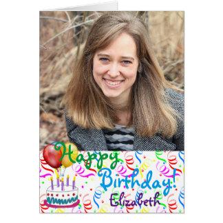 Custom Happy Birthday Photo Card