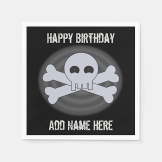 Custom Happy Birthday Skull Napkins