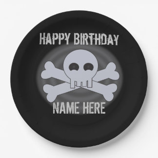Custom Happy Birthday Skull Plates