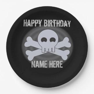 Custom Happy Birthday Skull Plates