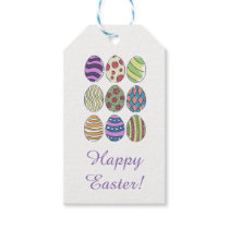 Custom Happy Easter | Painted Easter Eggs Gift Tags