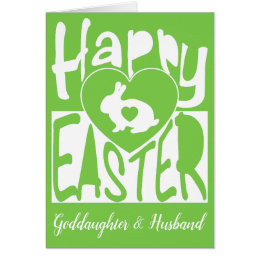 Goddaughter happy easter gifts on zazzle custom happy easter to goddaughter husband blank card negle Gallery