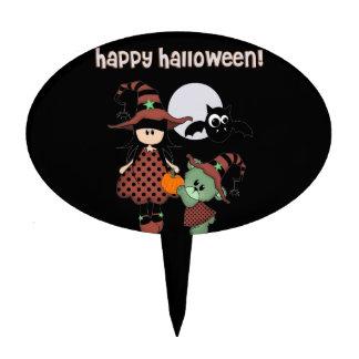 Custom Happy Halloween Cake Topper