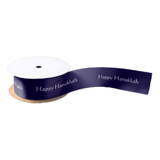 Custom Happy Hanukkah Satin Ribbon
