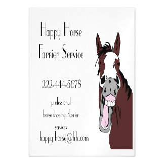 Custom Happy Horse Farrier Horse Shoeing Business Magnetic Card