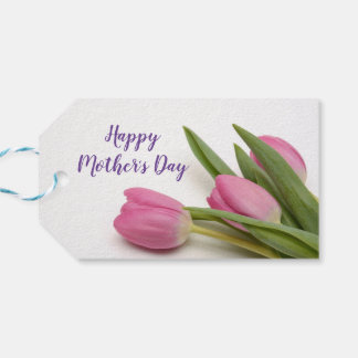 Custom Happy Mother's Day with Tulips Gift Tags