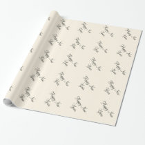 Custom Happy New Year Cosmic Cream Background Gift Wrapping Paper