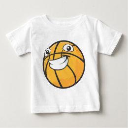 Custom Happy Smiling Basketball Baby T-Shirt