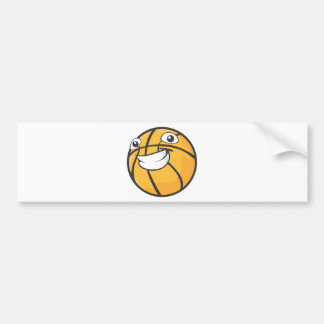 Custom Happy Smiling Basketball Bumper Sticker