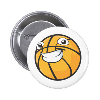 Custom Happy Smiling Basketball Buttons