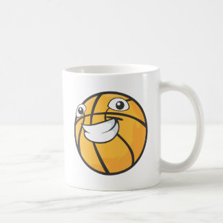 Custom Happy Smiling Basketball Coffee Mug