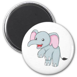 Custom Happy Standing Elephant 2 Inch Round Magnet