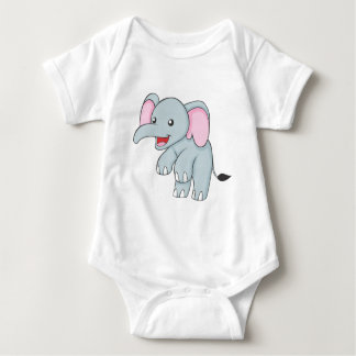 Custom Happy Standing Elephant Baby Bodysuit