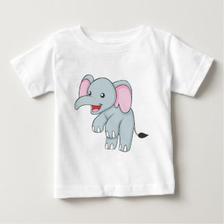 Custom Happy Standing Elephant Baby T-Shirt
