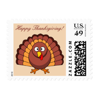 Custom Happy Thanksgiving Stamps With Turkey