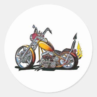 Custom Hardtail Chopper Classic Round Sticker