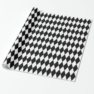 Custom Harlequin Black Diamond Wrapping Paper