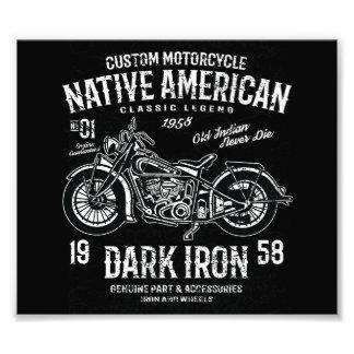 Custom Harley Indian Motorcycle  Classic Legend Photo Print
