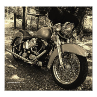 Custom Harley Photographic Print
